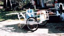 昭和ブリッジ アルミ製折りたたみリヤカー アルミハンディキャンパー 「趣味生活雑貨セレクトショップ」 I-Land <アイランド>
